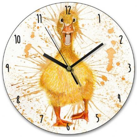 Splatter Duck Wooden Clock